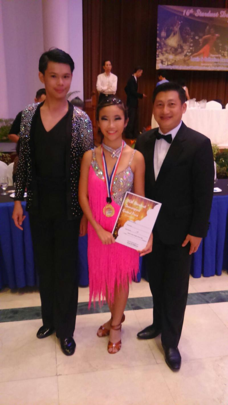 Winner of Junior Latin 16 years & below-23 June 2015